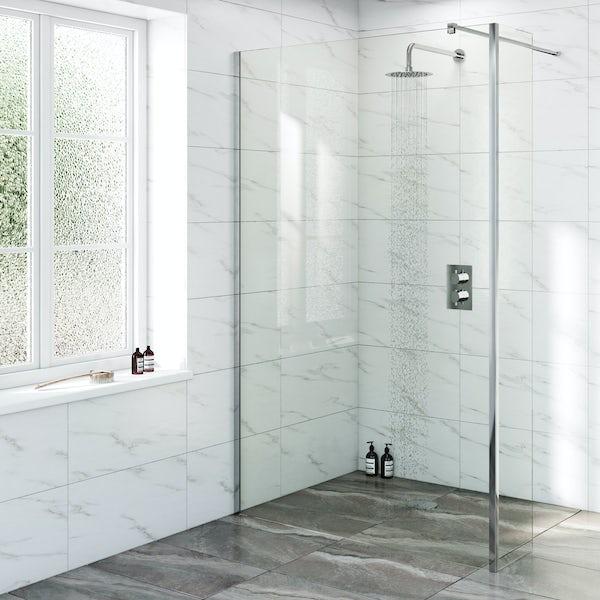 Mode Renzo round slim stainless steel shower head 200mm