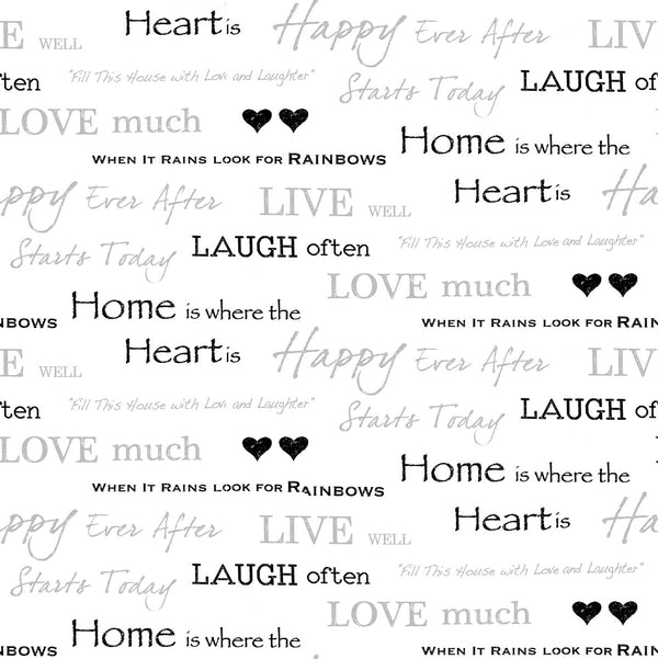 Wall Words Sidewall - Black / Silver