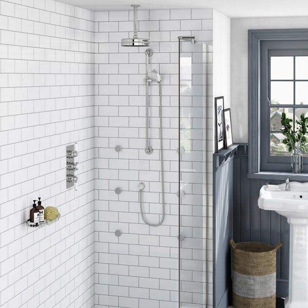 Antonio Complete Thermostatic Ceiling Shower Set