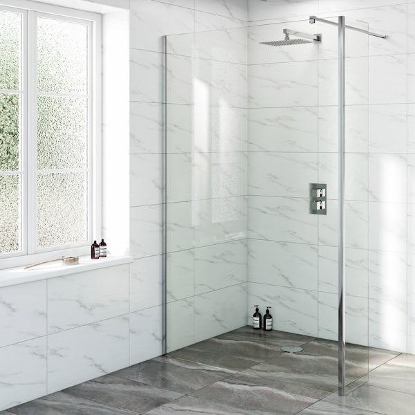 Mode Renzo rectangular slim stainless steel shower head 300mm