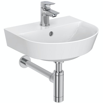 Ideal Standard Concept Air Arc 1  tap hole wall hung basin 400mm