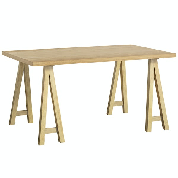 Hudson Oak Trestle Table