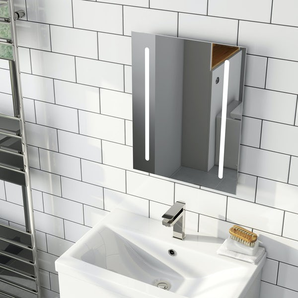 Mode Wyatt LED mirror with demister 390 x 500