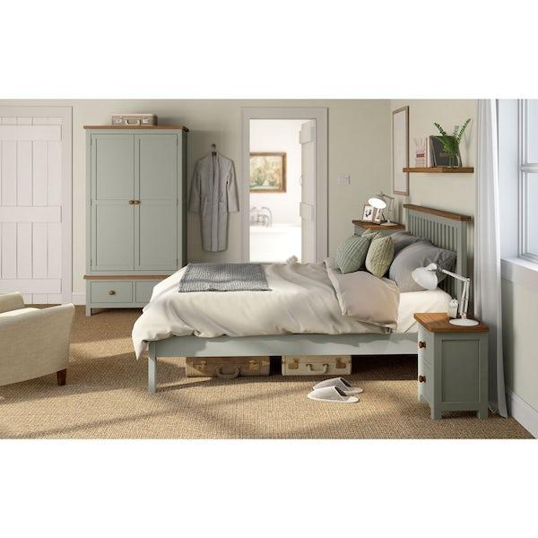 Rome Oak & Grey 2 Drawer Bedside