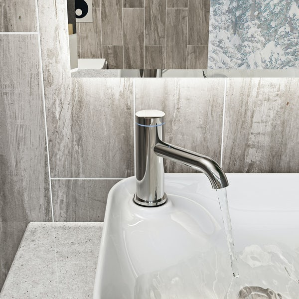 Mode Touch curved digital thermostatic basin mixer tap