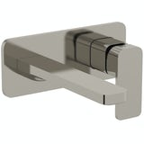 Mode Spencer square wall mounted brushed nickel basin mixer tap