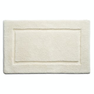Hug Rug luxury bamboo border cream bathroom mat 50 x 80cm