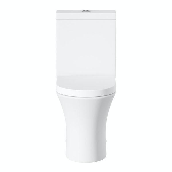 Hardy close coupled toilet inc soft close seat