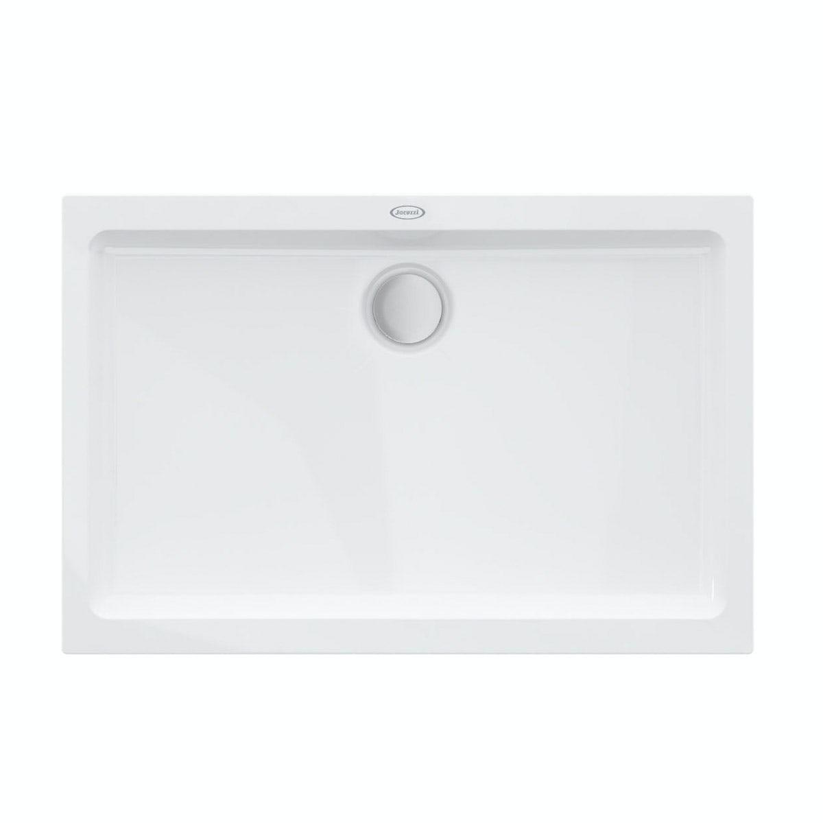 Jacuzzi Essentials matt white acrylic shower tray 1400 x 900
