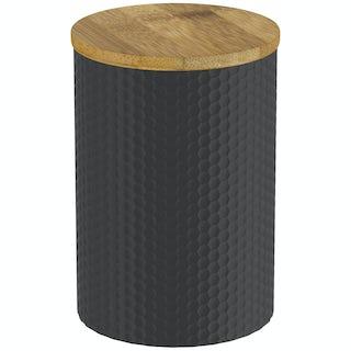 Contour black hex storage jar