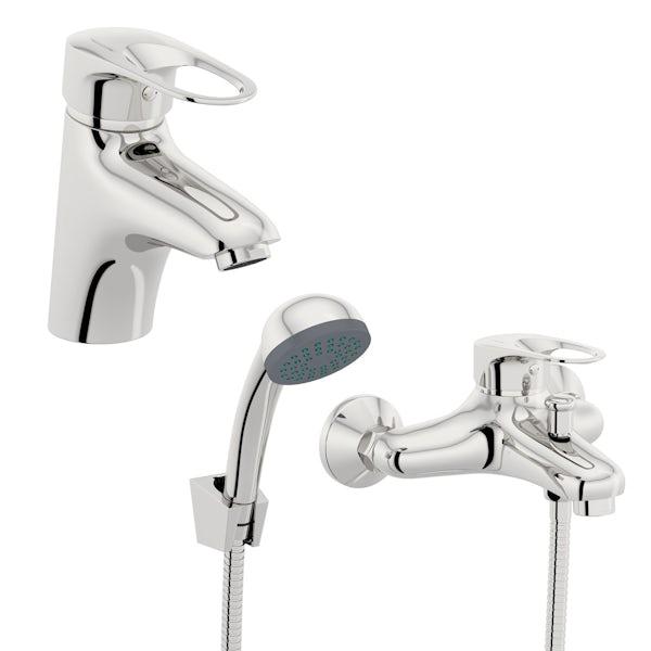 Orchard Dart loop basin and bath mixer shower tap pack