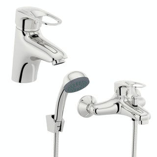 Orchard Dart loop basin and bath mixer shower tap pack