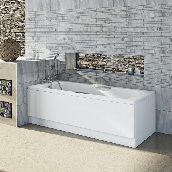 Clarity Steel bath with handle grips 1700 x 700