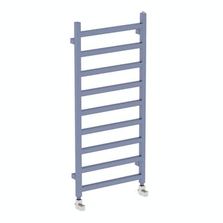 Simple pigeon blue heated towel rail 1080 x 500