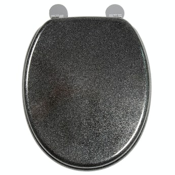 Croydex Black quartz flexi fix toilet seat
