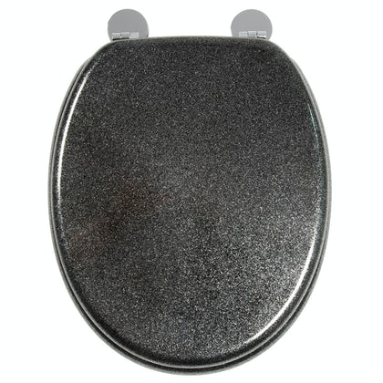 Croydex Black quartz  flexi fix toilet seat
