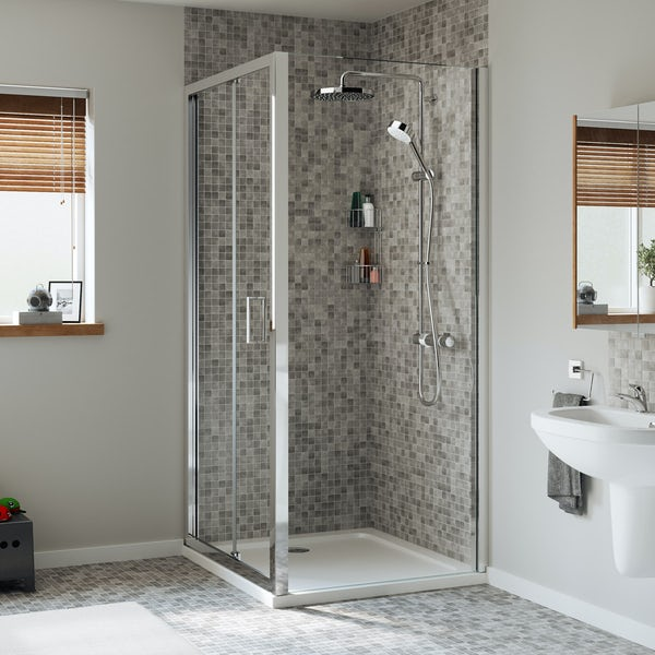 Mira Leap rectangular bifold shower enclosure