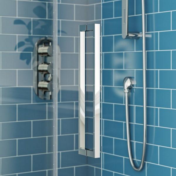 Mode Harrison 10mm quadrant shower enclosure 900 x 900 offer pack