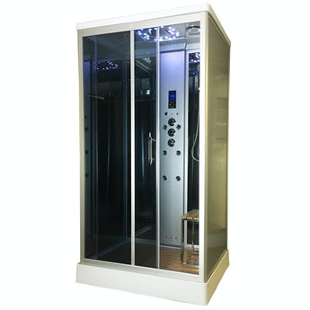 Insignia rectangular steam shower cabin 1100 x 890