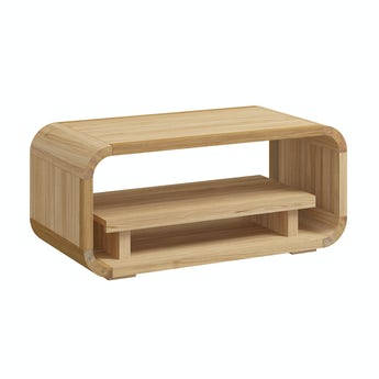 Reeves Oscar oak storage table