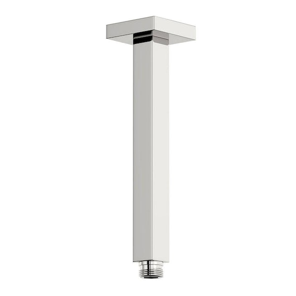 SmarTap white smart shower system with square wall outlet set