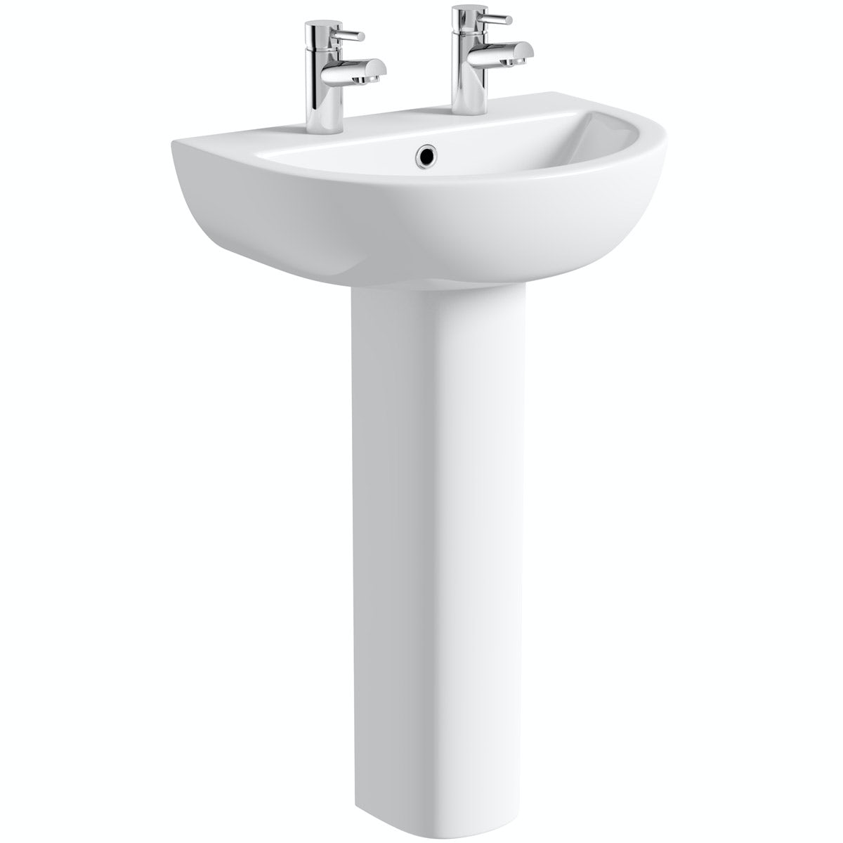 Orchard Elena 2 tap hole full pedestal basin