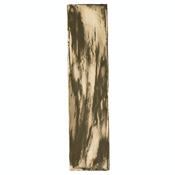 British Ceramic Tile Metallic gold wall tile 75mm x 300mm
