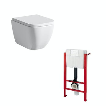 Mode Positano wall hung toilet inc soft close seat and wall mounting frame