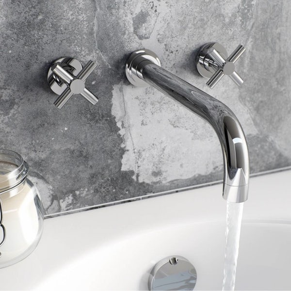Tate Wall Mounted Basin and Bath Mixer Pack