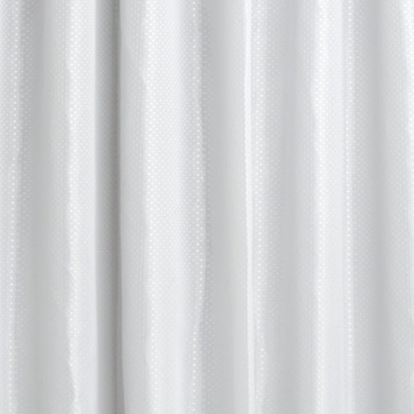 Diamond white polyester shower curtain