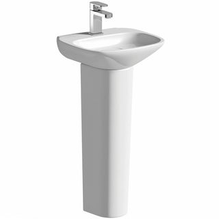Heath 1TH 400mm Basin and Full Pedestal