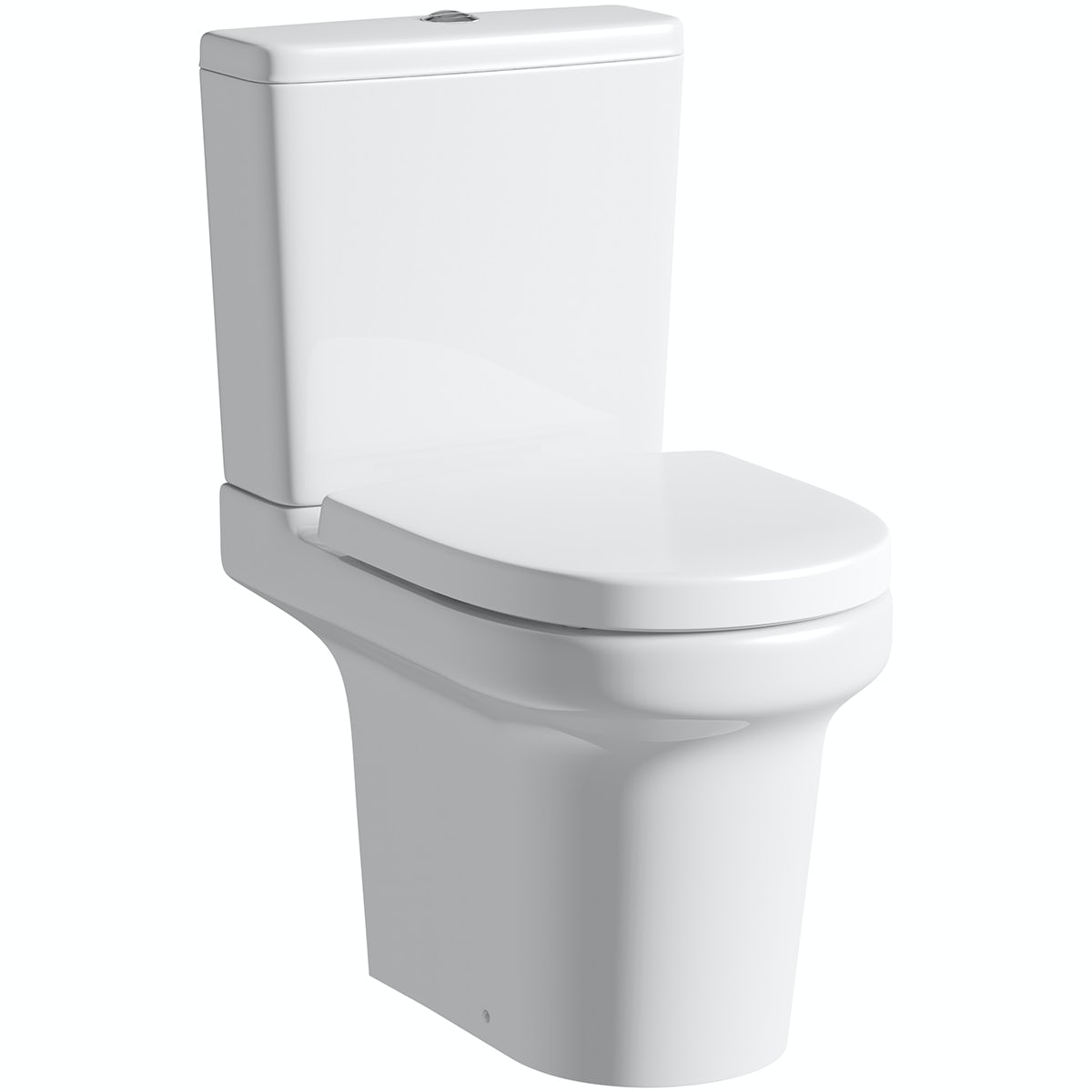 Mode Burton close coupled toilet with soft close seat with pan connector