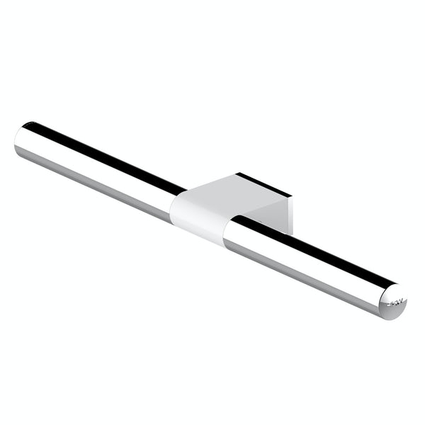 AKW Onyx towel rail white and chrome