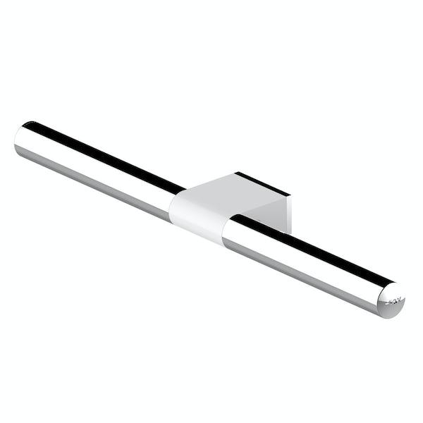 AKW Onyx towel rail white and chrome