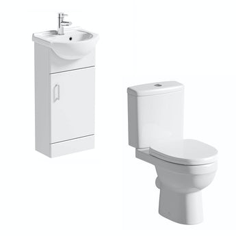Sienna white cloakroom unit with Energy close coupled toilet
