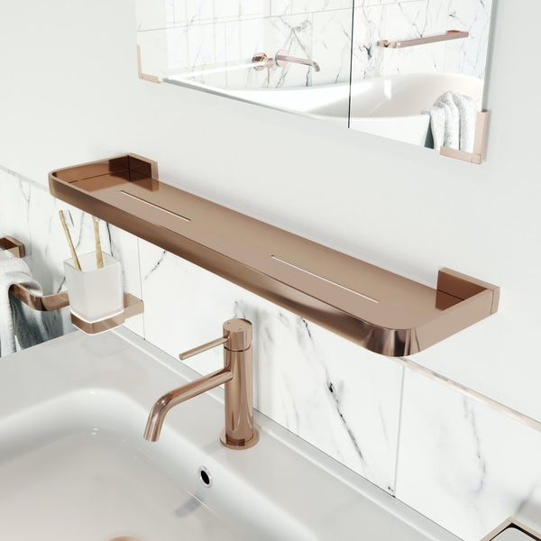 Mode Spencer rose gold bathroom shelf