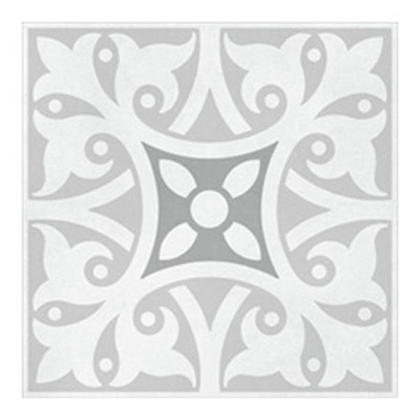 British Ceramic Tile Patchwork pattern grey matt tile 142mm x 142mm
