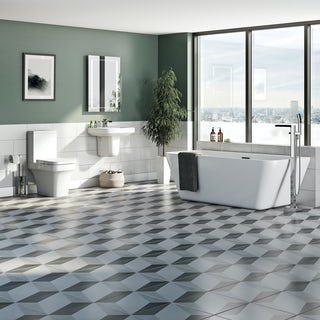 Mode Carter complete freestanding bath suite with taps and wastes