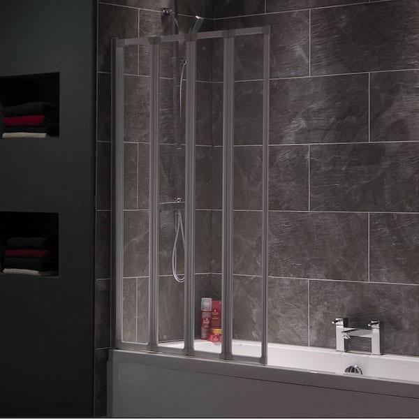 Foldaway Bathscreen in Satin
