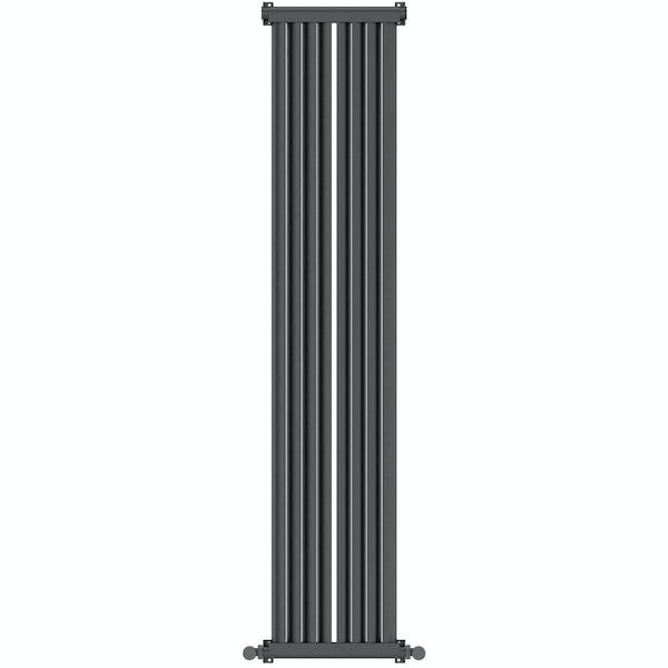 Zephyra anthracite vertical radiator 1500 x 328