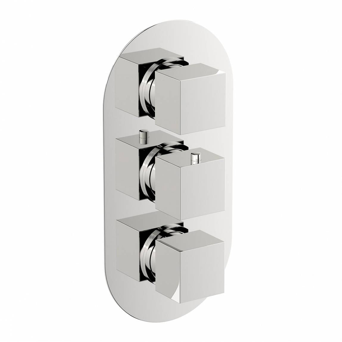 Mode Cubik oval triple thermostatic shower valve offer pack