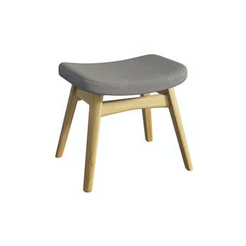 Sloane oak and grey footstool