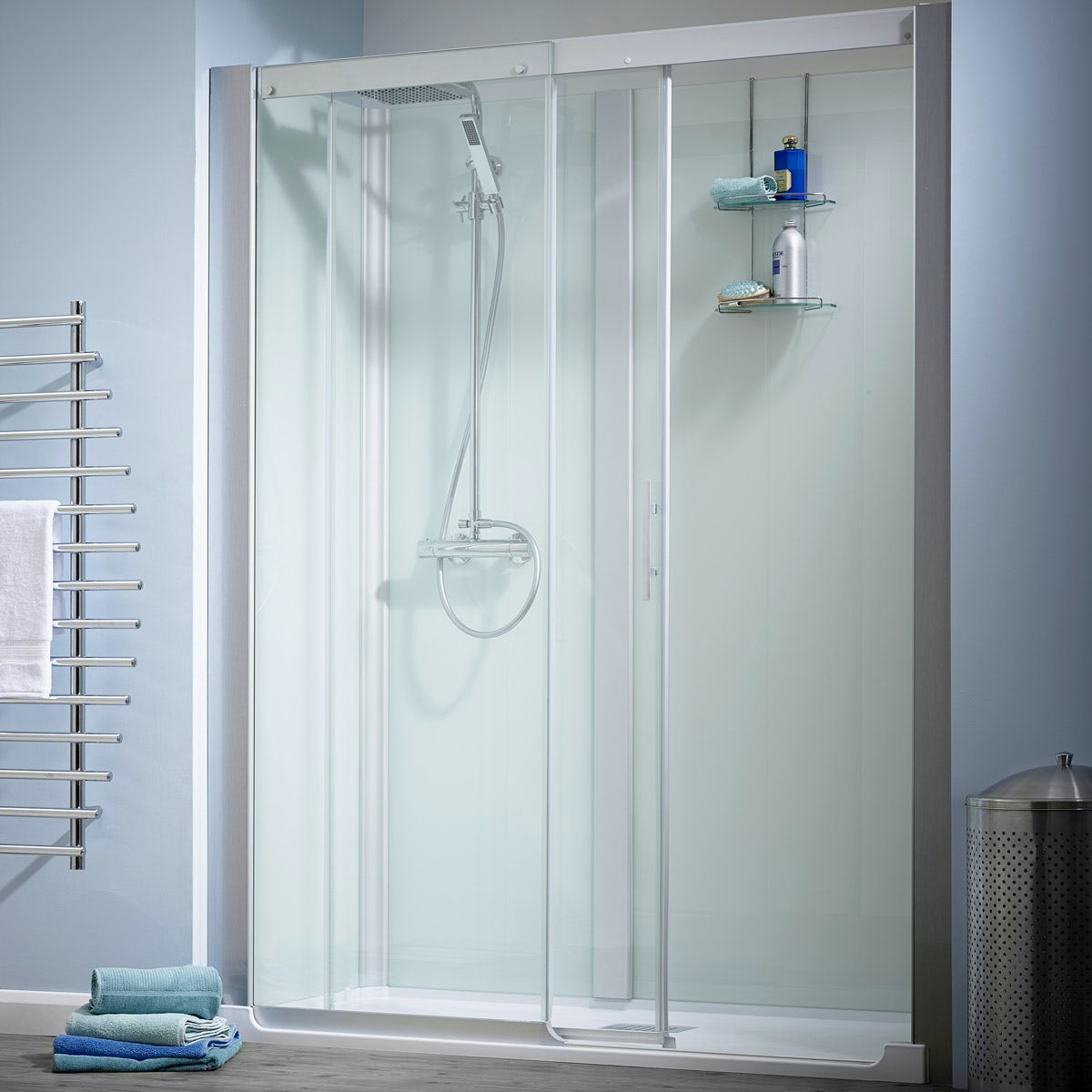 Kinemagic Design easy install bath replacement recessed shower cabin