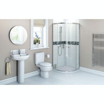 Energy Bathroom Suite with 800 Quadrant Enclosure incl. Tray