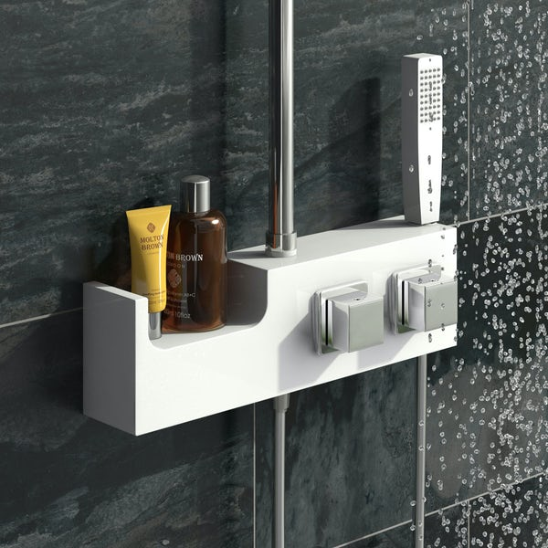 Chime Cubic White Riser Rail Kit with Shelf