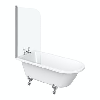 Dulwich Freestanding Shower Bath and Bath Screen