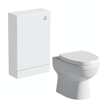 Orchard Derwent white slimline back to wall unit and Eden toilet with seat
