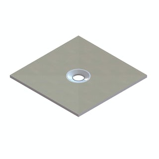 Wet Room Square Tray With Centre Waste