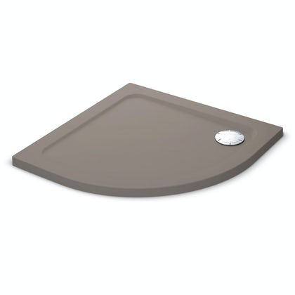 Mira Flight Safe low level anti-slip quadrant shower tray 900 x 900 in Taupe