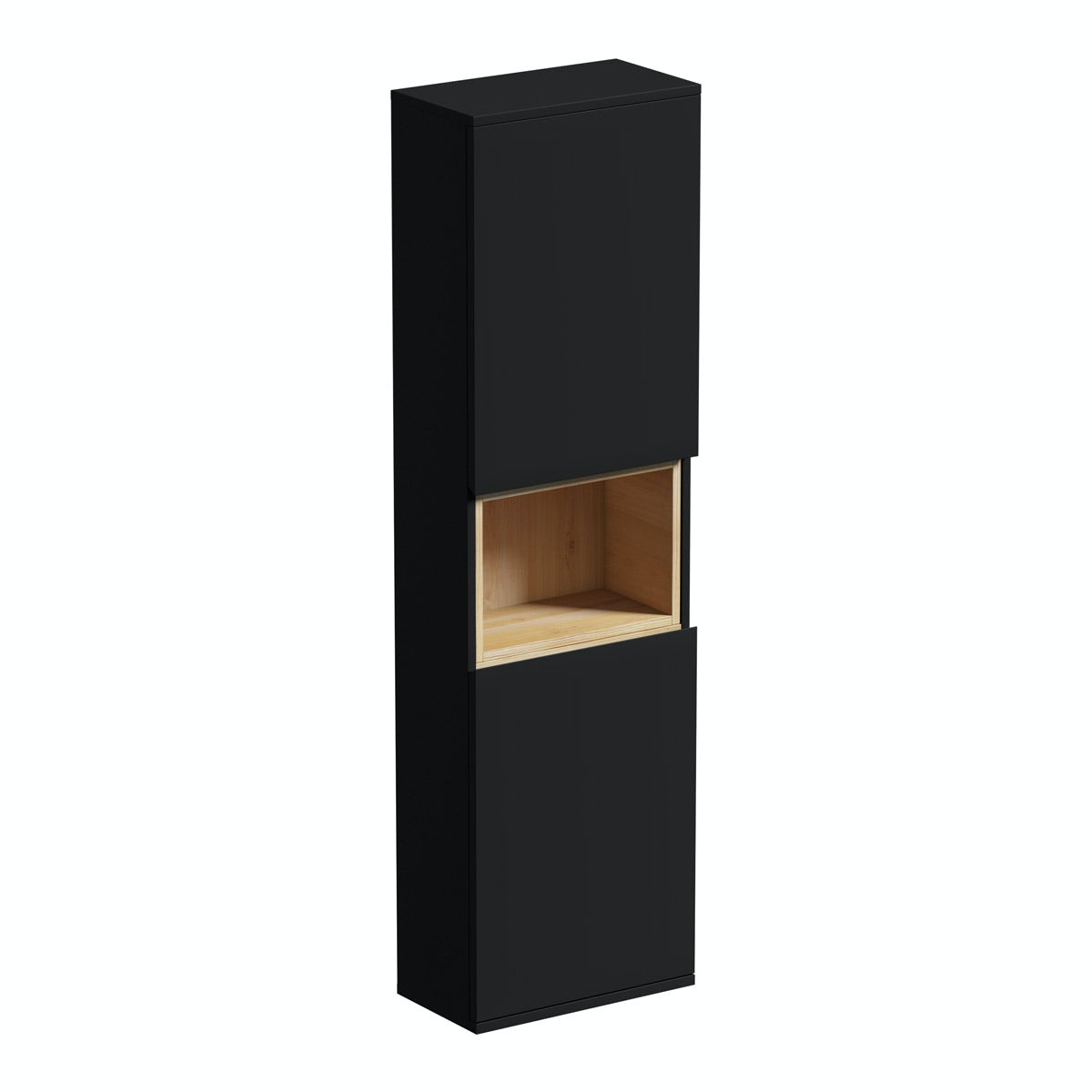 Mode Tate anthracite & oak wall cabinet